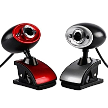 Enjoy Hot Black/Red High Definition HD USB 16MP Digital Webcam Web Camera with MIC Built-in Microphone for PC Computer Laptop Tablet