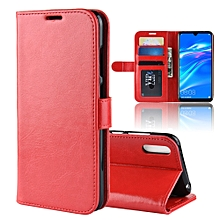R64 Texture Single Fold Horizontal Flip Leather Case for Huawei Enjoy 9 / Y7 prime (2019) / Y7 Pro (2019), with Holder & Card Slots & Wallet (Red)