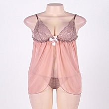 Eco Friendly Sexy lace bra baby doll Lingerie - Beige