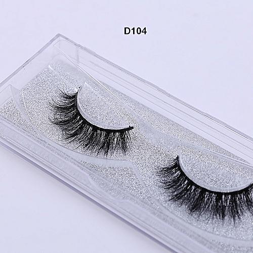 da98ffa526c Generic Mink Eyelashes 3D Mink Lashes Thick HandMade Full Strip Lashes  Cruelty Free Luxury Mink Lashes D101-D112(D104)