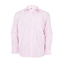 Light Pink Checked Long Sleeved Formal Shirt