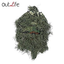 Hunting Grass Sniper Tactical Camouflage Hood Cap - Green Camouflage