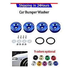 Car Aluminium Alloy Bumper Washer/Bolt Engine Bay Dress Up Kit Quick Release Fastener Blue