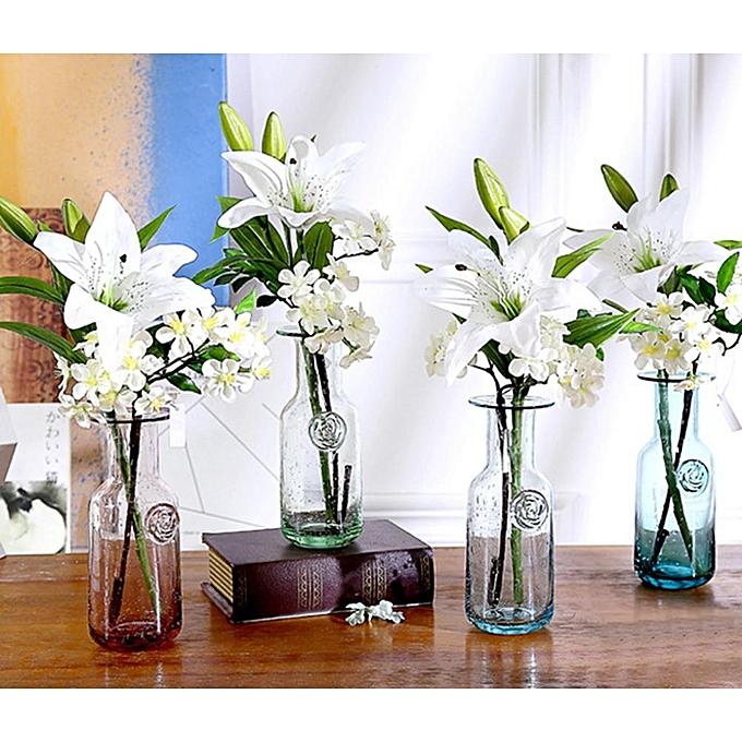 Artificial lily flower simulation fake decoration flower for home decor wedding party decoration