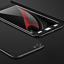 GKK For OPPO  A59 PC Three - paragraph Shield 360 Degrees Full Coverage Protective Case Back Cover(Black)
