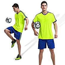 Customized  Adult Men's Football Soccer Sport Team Jersey Set-Green(QD-1702)