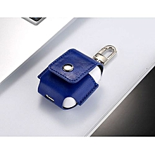 For Apple Airpods Headset Portable Leather Case Protective Cover Bag Pouch BU-Blue
