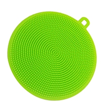 Silicone Dish Washing Sponge Scrubbers Practical Washing Kitchen Tools