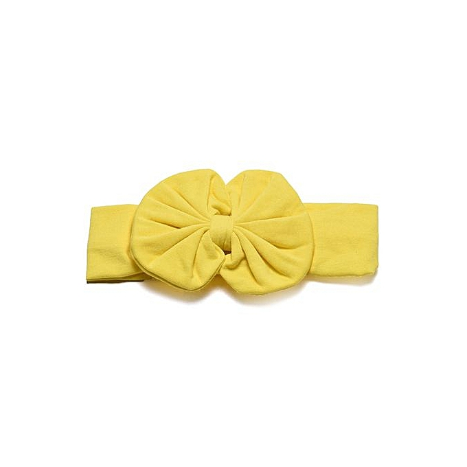 9452e9f5b75 Braveayong Cute Kids Girls Baby Toddler Bowknot Headband Hair Band Headwear  YE -Yellow