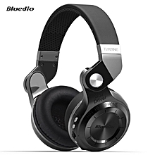 LEBAIQI Bluedio T2+ Foldable Style Bluetooth V4.1 +EDR Wireless Stereo Headset Support TF Card with Mic (Black)