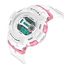 Fohting SYNOKE Multi-Function 30M Waterproof Watch LED Digital Double Action Watch White