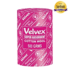 White Cotton Wool - 500 Grams (1 Roll)