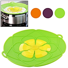 Spill-Proof, Anti-Flutter and Heat-Resistant Silicone Pot Cover (Ramdom Color Delivery)