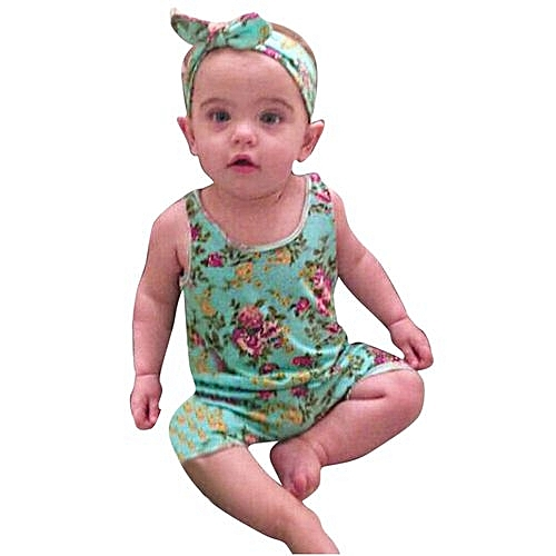 Buy Eissely Infant Toddler Baby Girls Floral Romper Jumpsuit
