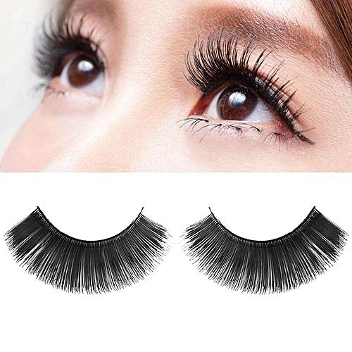 1733e08c031 QIBEST bluerdream-1Pair Luxury 3D False Lashes Fluffy Strip Eyelashes Long  Natural Party-Black