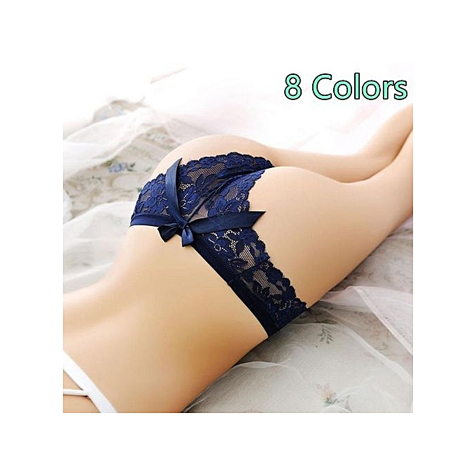 564d376ad17c Underwear Women G string Sexy String Lingerie Lace Thong Seamless Briefs  Transparent Panties Knickers Black Tangas