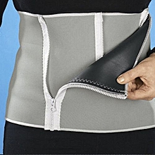 Waist Trimmer Exercise Wrap Belt Slimming Burn Fat Sweat Weight Loss Body Shaper Light Gray,,,,,,,,