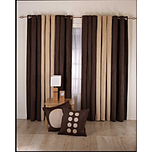 Brown and Beige curtains -6pcs