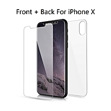 iPhone X Front And Back Screen Protector Anti-Fingerprint Anti-Scratch Ultra-Thin Stylish Screen Protector    IPHONE X    as the picture