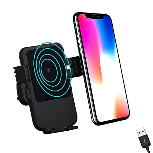 online store 400cf 9100f Universal Car Bracket iPhone X 8 Qi Wireless Charger Quick Charge For  Samsung S9 S8 Phone Holder Stand Fast Wireless Charging SKDEO