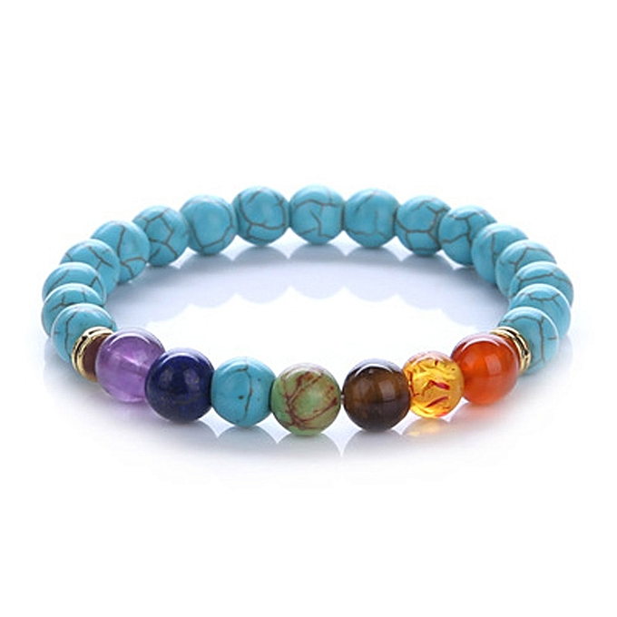 Chakra Volcano Bead Bracelet Yoga Buddha Beads