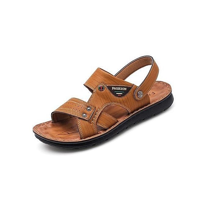 b3638411169 2018 Summer Men s Sandals Flip-Flops Casual Clips Feet Men s Dual Beach  Shoes
