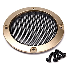 "1pcs 3"" inch Black Audio Speaker Cover Decorative Circle Metal Mesh Grille Gold"