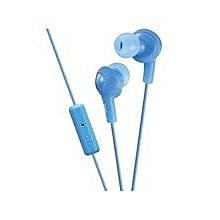 HA-FR6 - Gumy Plus Inner Ear Headphones - Peppermint Blue