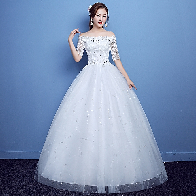 Fabulous Wedding Gowns For Bride Simple Lace Dress