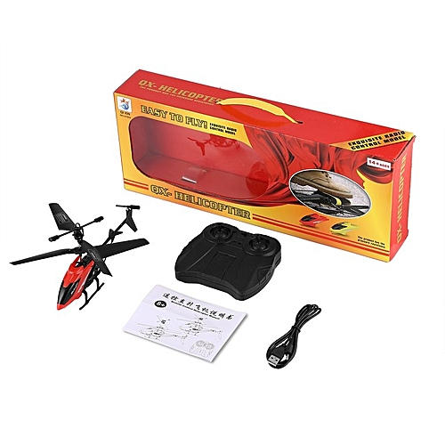HP 2CH Mini RC Helicopter Toys Remote Control Drone Radio Gyro Kids Toys XY802 Red