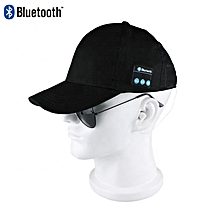 24abe523380 Men s Hats caps With Bluetooth Earphone Black