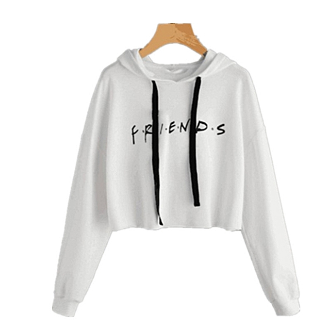 Sweatshirt Women s Casual Harajuku Friends Letter Printed Long Sleeve Short  Hooded Sweater Autumn And Winter Sweatshirts 7581dc9cc0