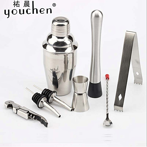 Generic 8pcs Cocktail Maker Set Shaker Mixer Making Bar Spoon