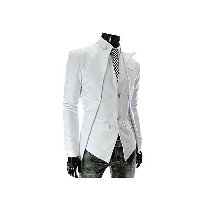 9205fa93f6 New Fashion From Yang: Fashion Spring Autumn Korean Style Suit Jackets  Asymmetrical Design Suit Men