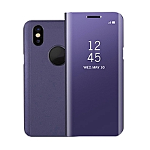 CO PC Flip Design Phone Case Mirror Surface Full for iPhone X-purple