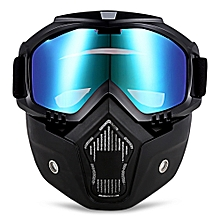 MT - 009 Motorcycle Goggles with Mask-Multicolor
