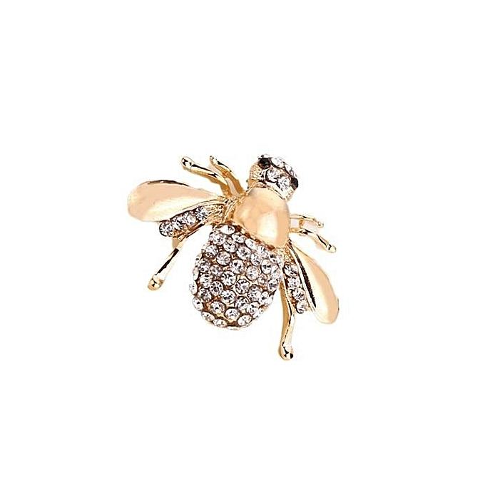 1e60abbd3 Tanson Hot New Fashion Gift Crystal Rhinestone Bee Brooch Pin Suit Women  Shirt Collar Pin Gold