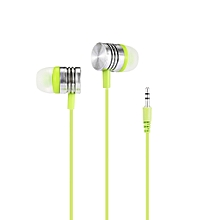 KS01 In-ear Music Earphones Transparent Crystal Wire Design for 3.5mm Audio Interface Device  - GREEN