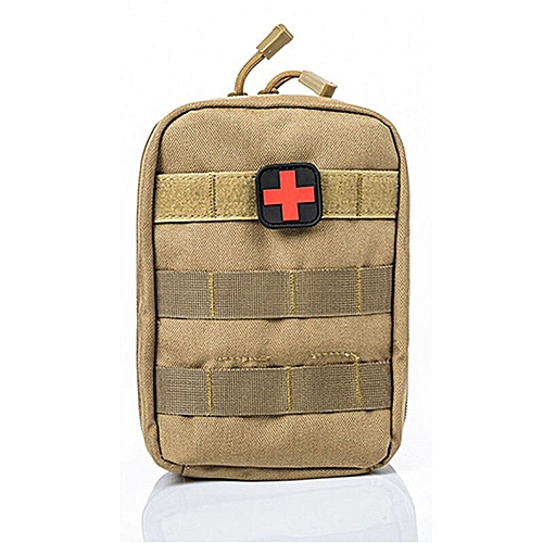 Mini Pouch Travel First Aid Kit Survie Portable Survival Tactical Emergency  First Aid Bag Military Kit Medical Quick Pack(Random Color)(#Kihaki)