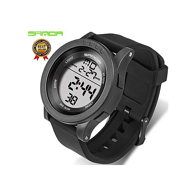c1cf7e2bef Military Sports Watch Mens Waterproof Simple Fashion Digital Watches  Silicone Strap Chronograph LED Electronic Watches Men Clock 336