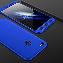 GKK for  Xiaomi Redmi Note 5A Pro / Prime Three-paragraph 360 Degree Full Coverage PC Protective Case Back Cover(Blue)