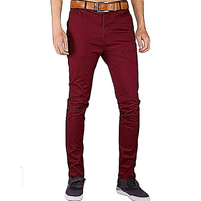 d45668cfcf543 Fashion Soft Khaki Trouser Stretch Slim Fit Casual- Maroon @ Best ...