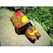 Ankara boyfriend shoes with a free clutch