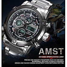 Mens Watches 2018 Watch Men Top Brand AMST Dual Display Wristwatches Luxury Watches Sports Military Relogio Masculino WWD