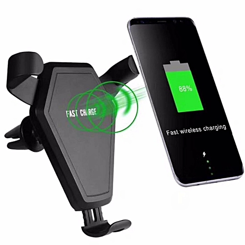 huge selection of e994b 70633 Car Mount Qi Wireless Charger for iPhone 8 Plus X Fast Wireless Charging  Pad Car Holder Stand For Samsung S9 S8 Plus S7 (C)