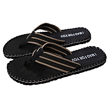 945962ff36e8 Men Summer Shoes Sandals Male Slipper Indoor Or Outdoor Flip Flops BK 40 -  Black