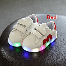 New Stylish Velcro Led Shining Baby's White Shoes