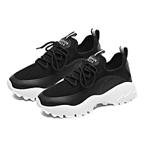 TB Summer Women Sports Shoes Lace up Athletic Running Fitness Walking Sneakers black