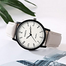 Lady  Leather Wrist Watch GAIETY Women Fashion Leather Band Analog Quartz Round Wrist Watch Watches Khaki-Khaki
