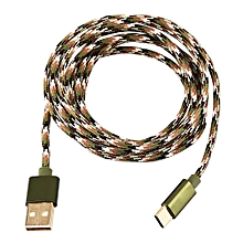 Type C Braided Data Sync Charging USB 3.1 Cable 2M Camouflage